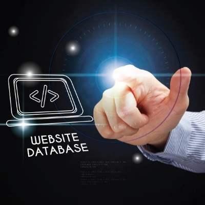 website database と表示しているハイテクをイメージした写真